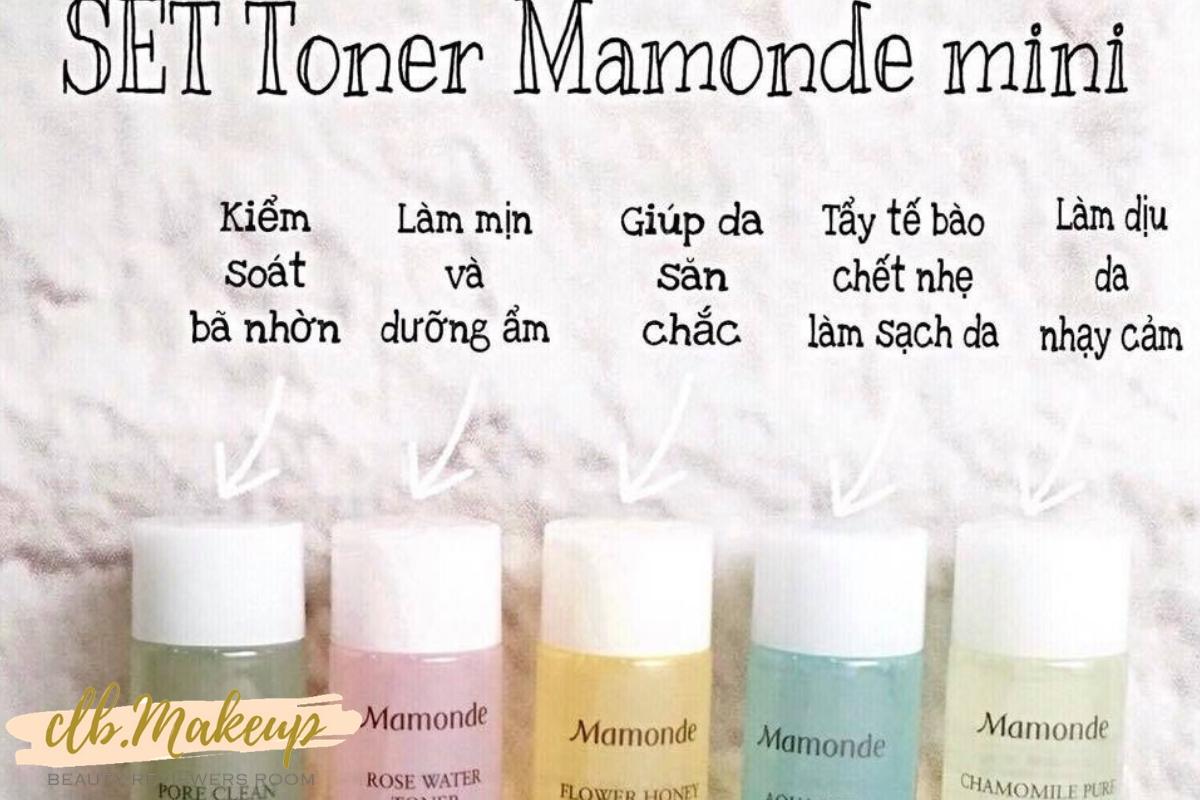 Toner Mamonde mini có nhiều mẫu khác nhau