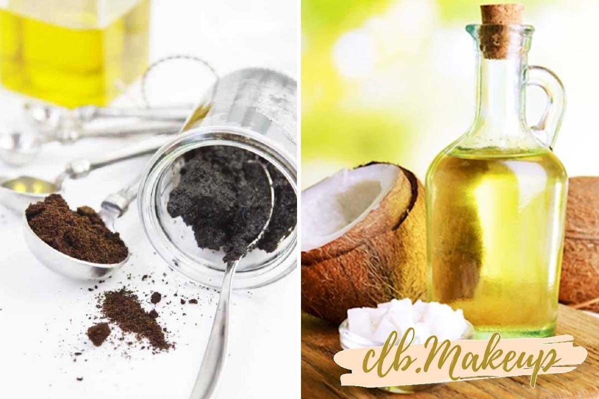 Cách tẩy tế bào chết cho da mặt nhờn bằng cà phê và dầu dừa