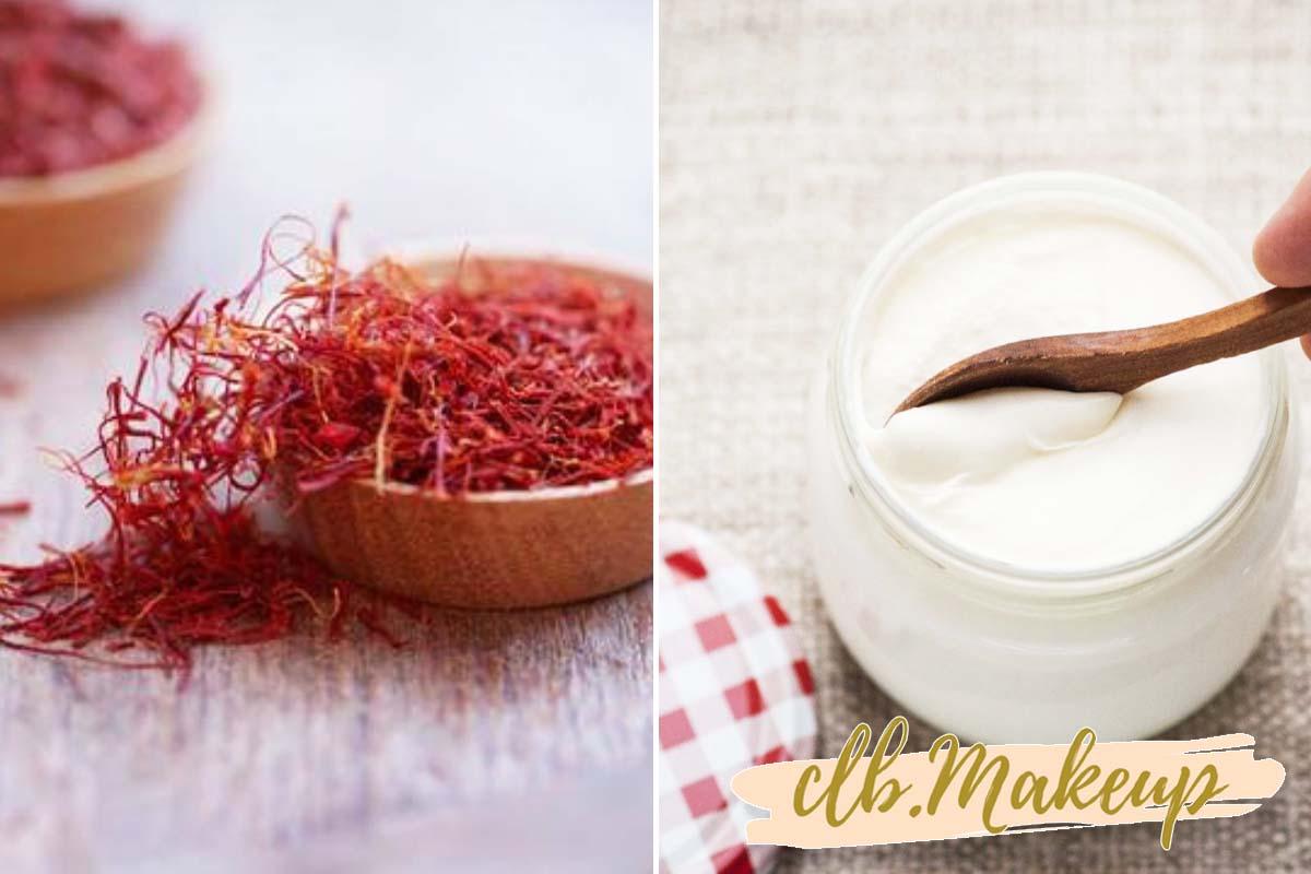 Saffron trị thâm bằng cách trộn với sữa chua đắp mặt