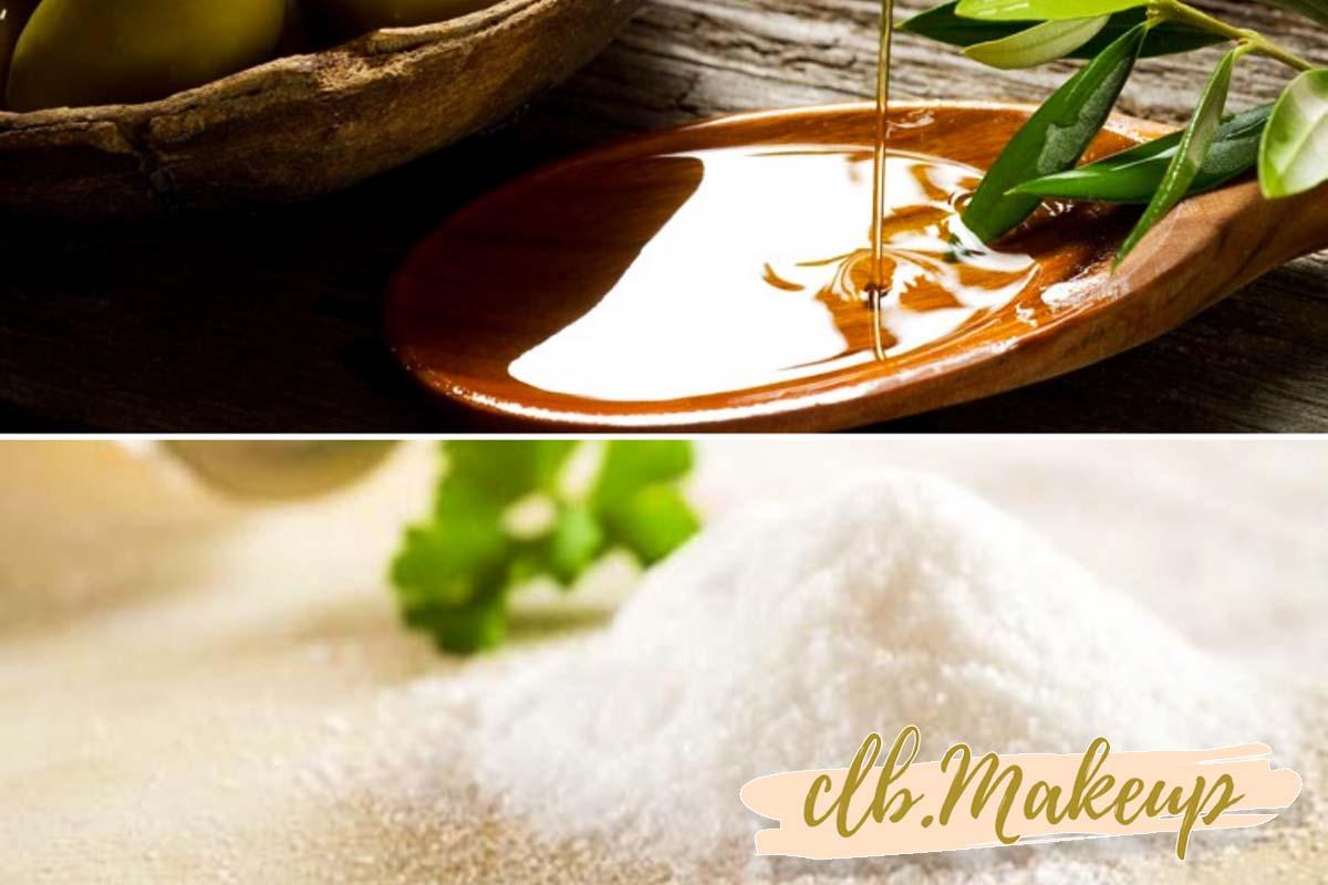 Cách tẩy tế bào chết cho da nhờn bằng muối và dầu ô liu