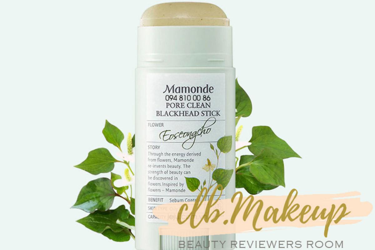 Thanh lăn trị mụn đầu đen Mamonde Pore Clean Blackhead Stick