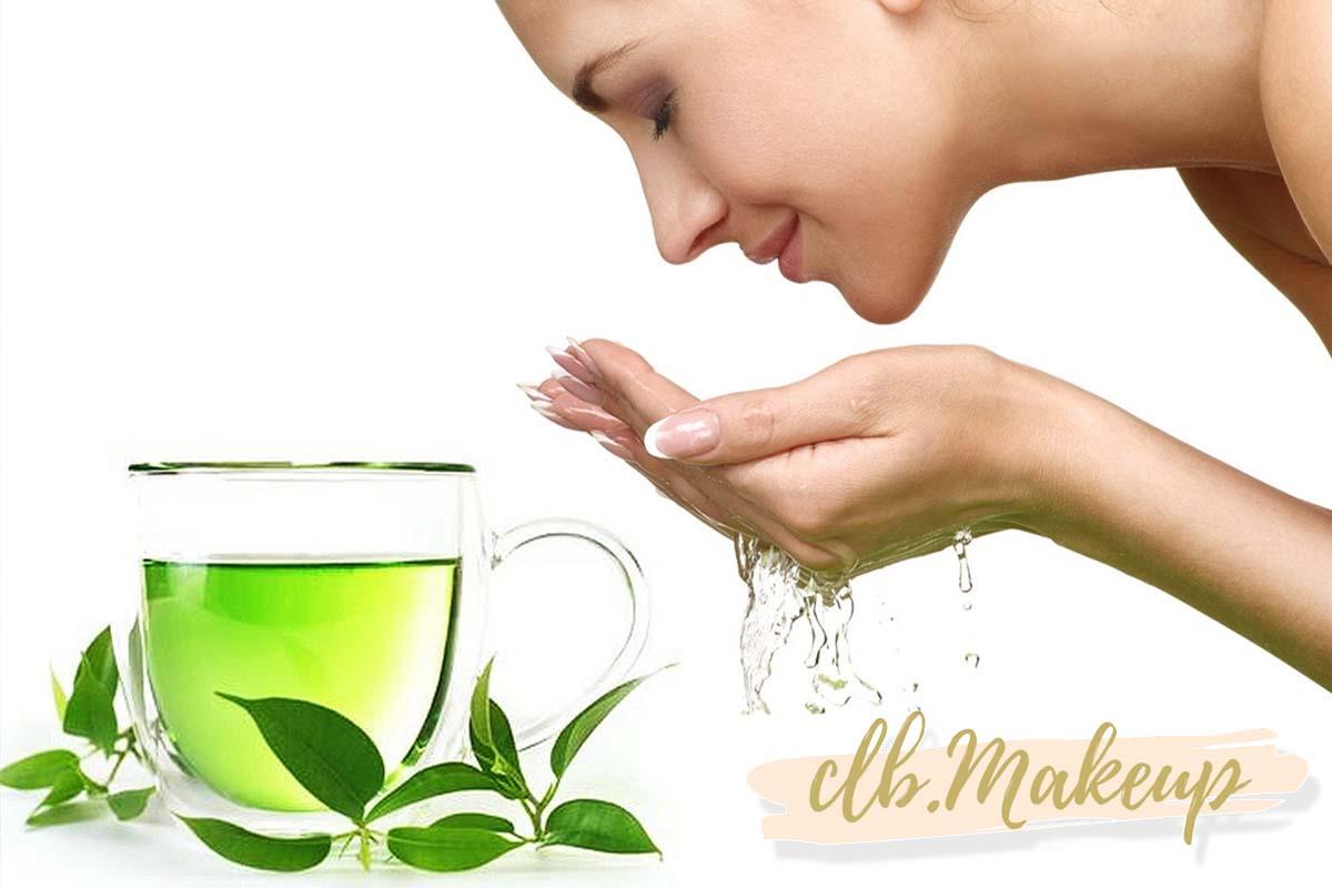 Trị mụn thâm bằng nước trà xanh