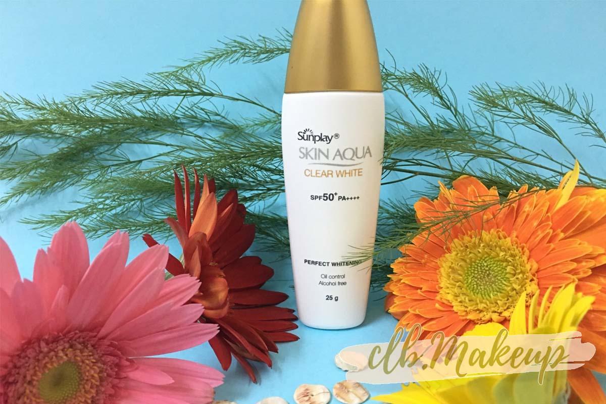 Kem chống nắng cho da dầu giá bình dân Skin Aqua Clear White SPF50+ PA++++