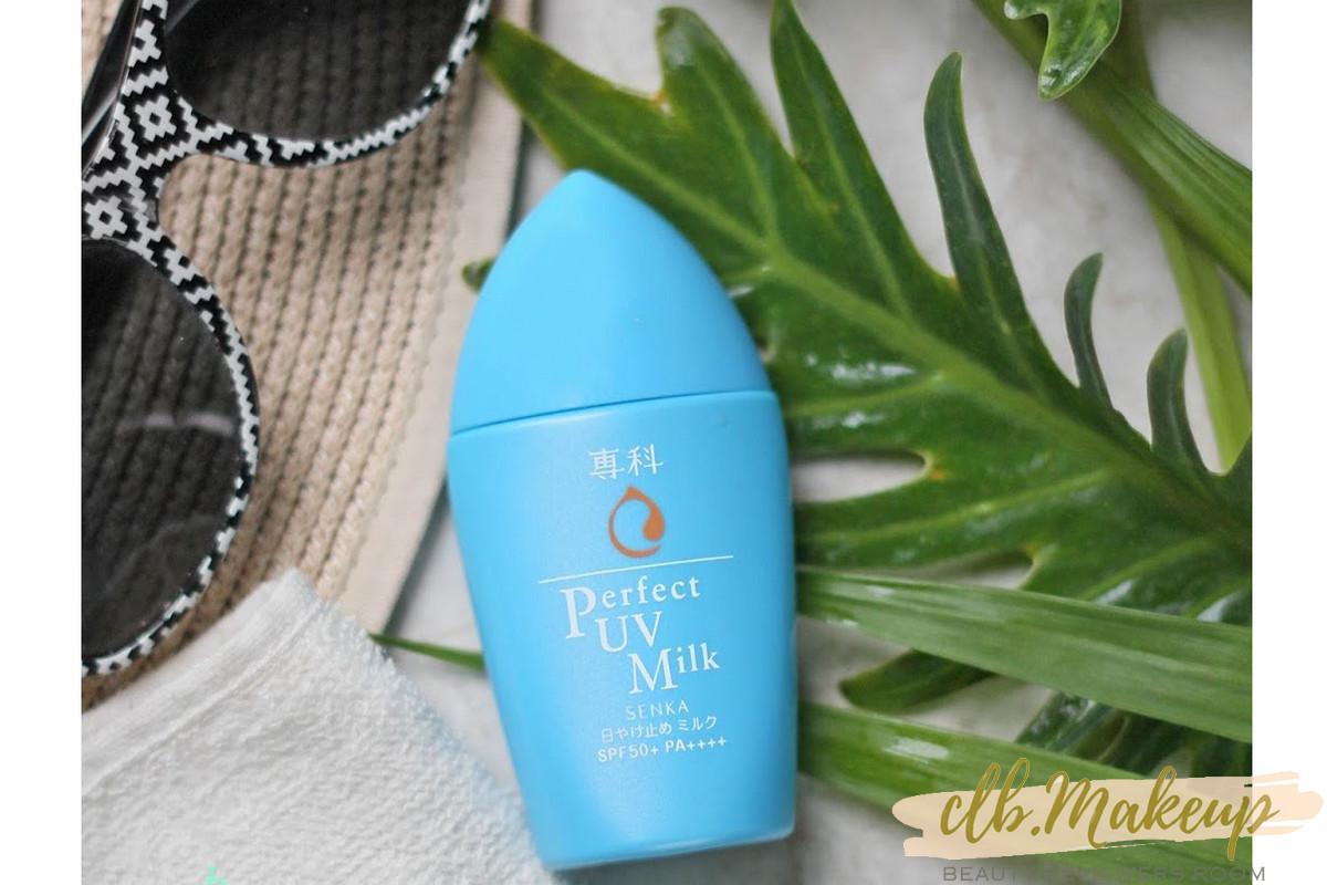Kem chống nắng cho da dầu Senka Perfect UV Milk đến từ Nhật Bản
