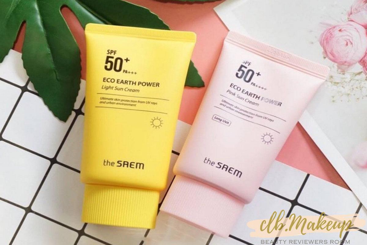 The Saem Eco Earth Power Pink Sun Cream là kem chống nắng cho da dầu mụn và nhạy cảm
