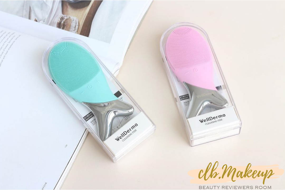 Thiết kế máy rửa mặt cực đáng yêu với 2 màu xanh hồng vô cùng dễ thương