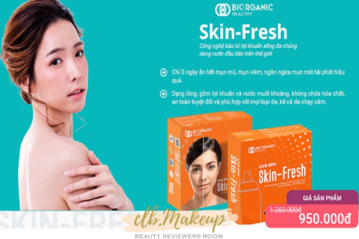 Xịt lợi khuẩn Skin Fresh do dược phẩm Bioganic sản xuất