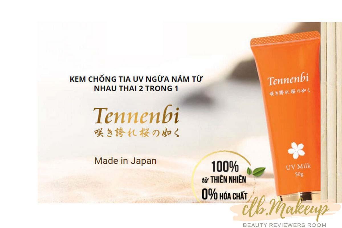 Kem chống nắng Tennenbi với dưỡng chất nhau thai đến từ Nhật Bản