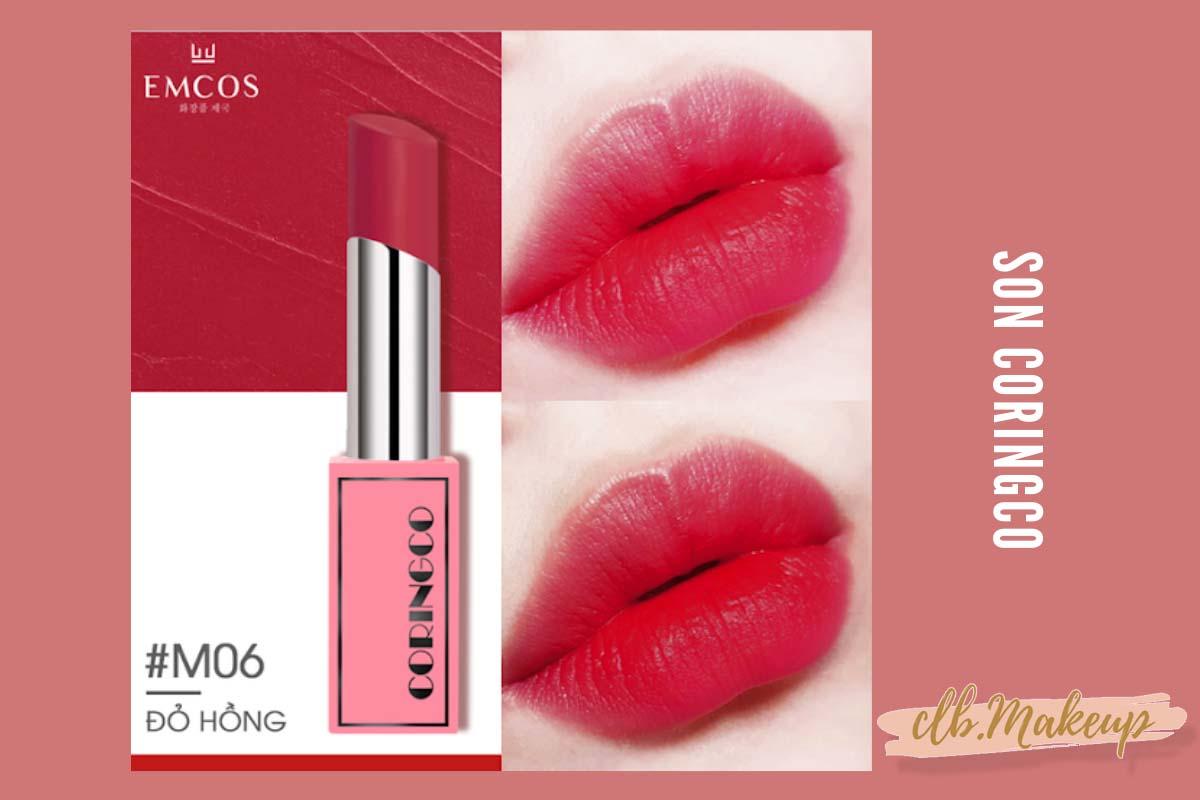 Son Coringco màu đỏ hồng