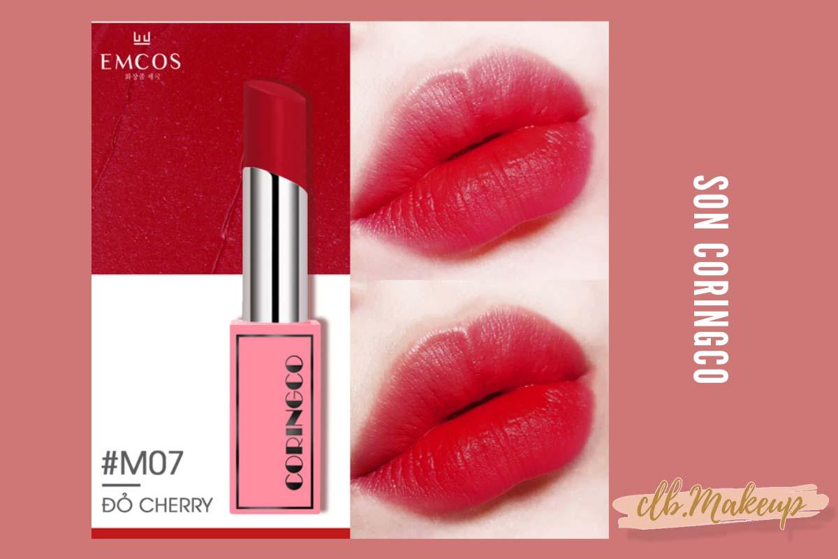 Son Coringco màu đỏ cherry