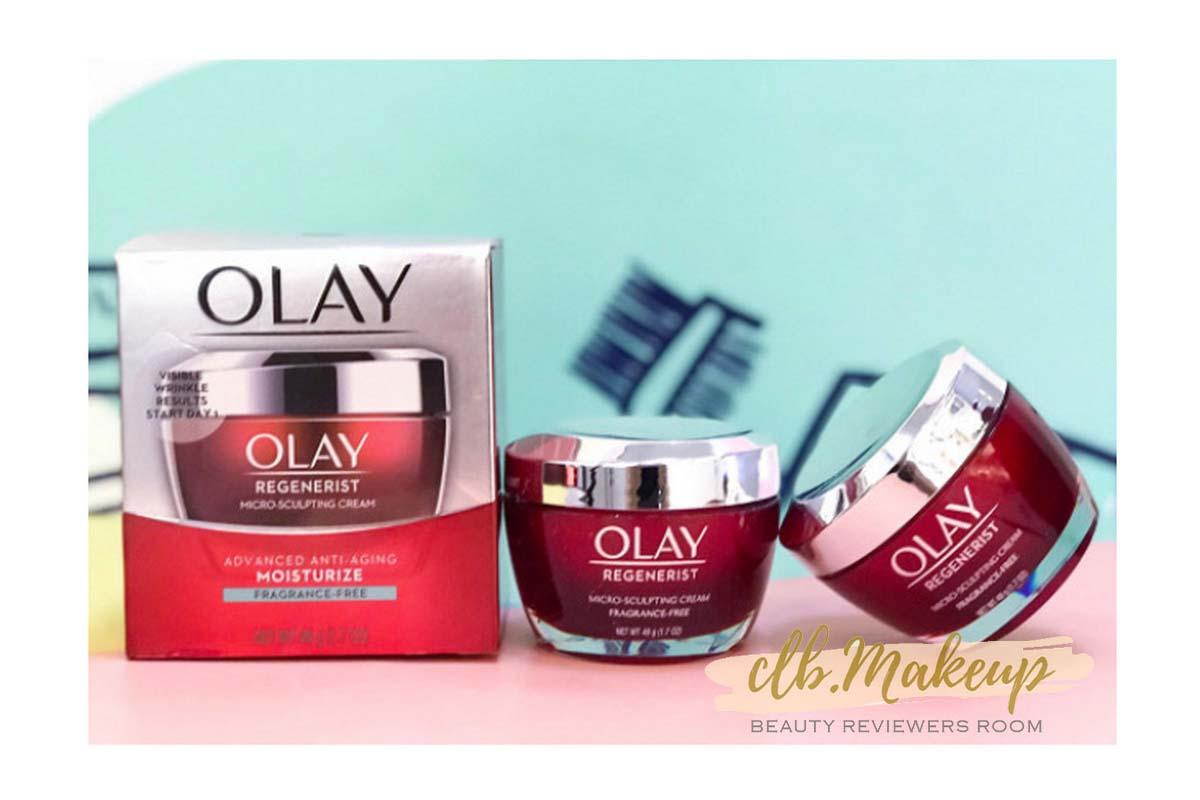 Kem dưỡng ẩm chống lão hóa Olay Regenerist Micro-Sculpting Cream Face Moisturizer Fragrance-Free