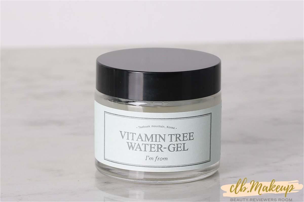 Kem dưỡng ẩm Vitamin Tree Water Gel được đựng bằng hũ thủy tinh tròn nhìn rất tối giản